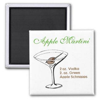 Apple Martini Imán Cuadrado