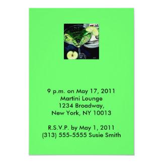 Apple martini invitation