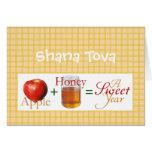 Apple más la miel tarjetón