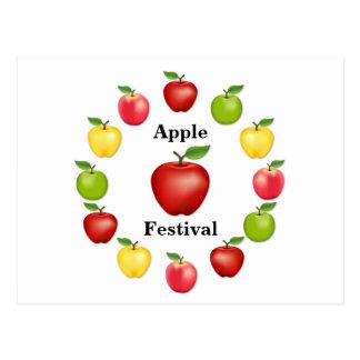 Apple mide el tiempo, delicioso, granny smith, postales
