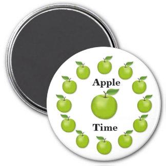 Apple mide el tiempo, granny smith imán redondo 7 cm