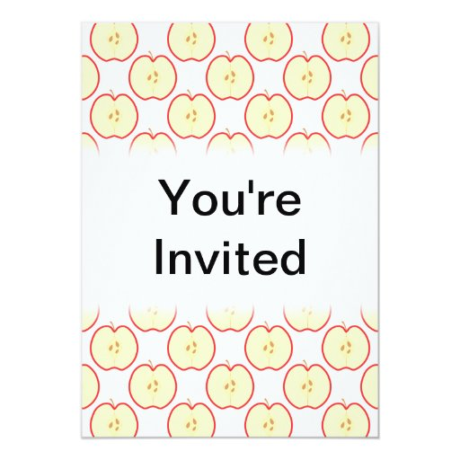 "Apple modela invitación 5"" x 7"""