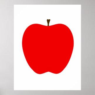 Apple moderno imprime póster