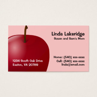 Apple Mommy Contact  Info Card
