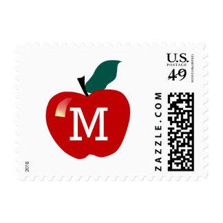 Apple Monogram Postage Stamp