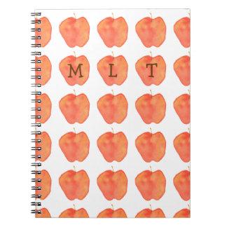 Apple Monogramed Spiral Notebook