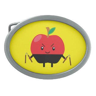Apple Ninja Hebillas Cinturon Ovales
