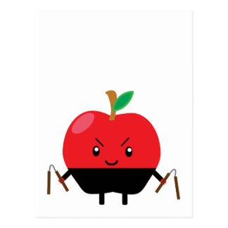 Apple Ninja Postcard