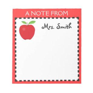 teacher notepads zazzle