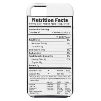 apple nutrition facts iPhone 5 case