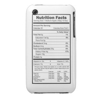 apple nutrition facts iPhone 3 Case-Mate case