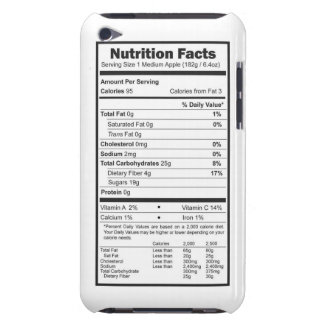 apple nutrition facts iPod touch Case-Mate case