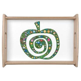 Apple of abundant aliveness serving tray