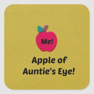 Apple of Auntie's Eye Square Sticker