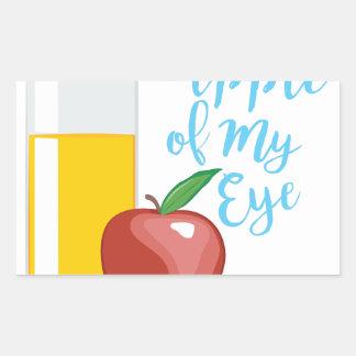 Apple Of Eye Rectangular Sticker