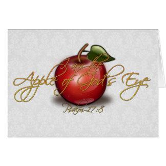 Apple of God's Eye, Christian Greeting Card