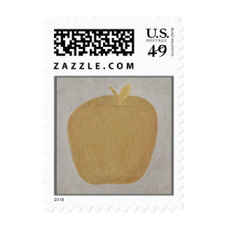 Apple of gold in picture of silver Add text stamps