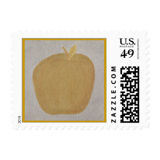 Apple of gold in picture of silver, stamps
