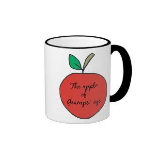 Apple of Gramps' Eye Ringer Coffee Mug