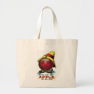 apple of my eye canvas bags
