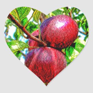 Apple Of My Eye Color Drawing Heart Sticker