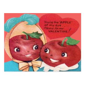 Apple Of My Eye Heart Valentine Postcard