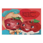 Apple Of My Eye Heart Valentine Poster