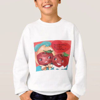 Apple Of My Eye Heart Valentine Sweatshirt