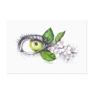 Apple of my eye Pencil art Wrapped canvas Canvas Print
