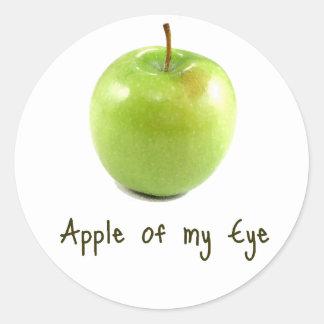 Apple of my Eye Classic Round Sticker