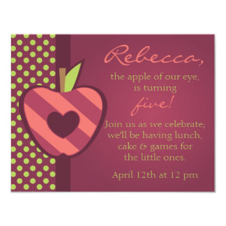 Apple of Our Eye Birthday Party Invitation