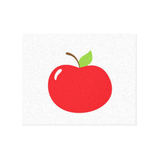 Apple of Your Eye Cartoon Canvas Prints