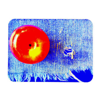Apple on Blue Jeans Yum Magnet