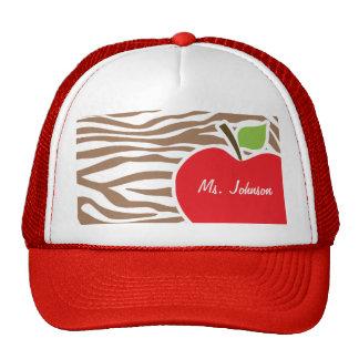 Apple on Chamoisee Zebra Animal Print Trucker Hat