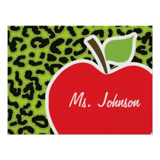 Apple on Citron Green Leopard Animal Print