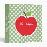 Apple on Laurel Green Polka Dots Binders