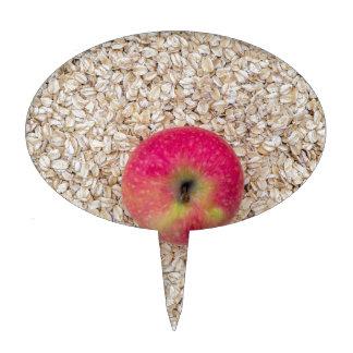 Apple on oatmeal cake topper