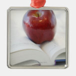 Apple on Open Text Book Ornaments