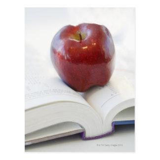 Apple on Open Text Book Postcard