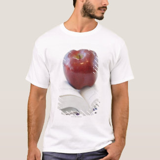 Apple on Open Text Book T-Shirt