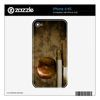 Apple on Top of a Stack of Books on a Desk Decal For The iPhone 4S