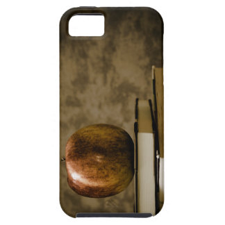 Apple on Top of a Stack of Books on a Desk iPhone SE/5/5s Case