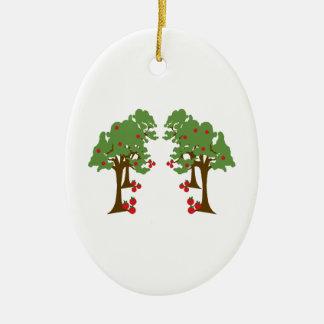 Apple Orchard Ceramic Ornament