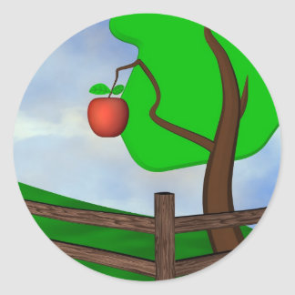 Apple Orchard Classic Round Sticker