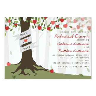 Apple Orchard Fall Autumn Rehearsal Dinner Invite