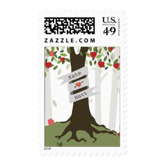 Apple Orchard Fall Autumn Wedding Postage