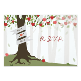 Apple Orchard Fall Autumn Wedding RSVP Card