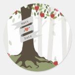 Apple Orchard Fall Autumn Wedding Stickers