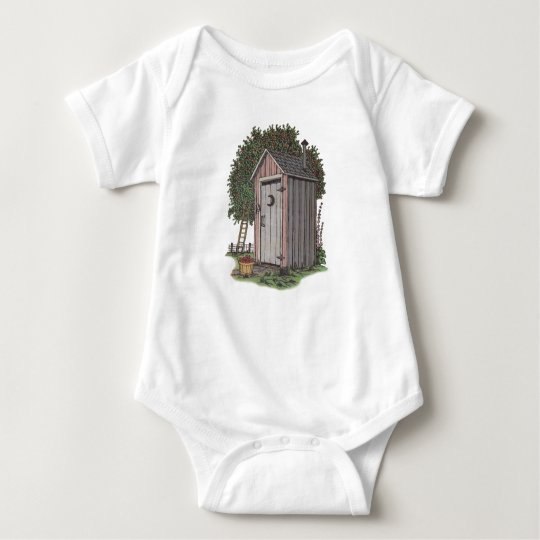 Apple Orchard Outhouse Baby Bodysuit