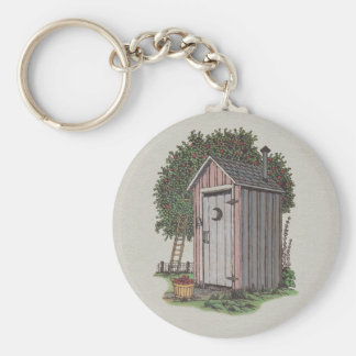 Apple Orchard Outhouse Basic Round Button Keychain